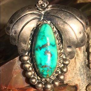 SOLD Navajo Squash blossom turquoise pendant💓